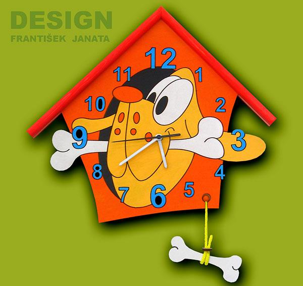 hodiny pes oranž 1