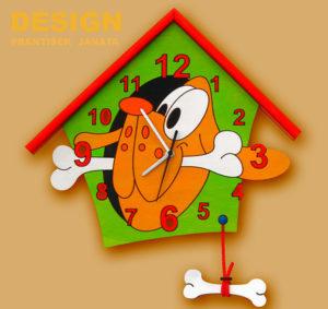 hodiny pes zelený 1
