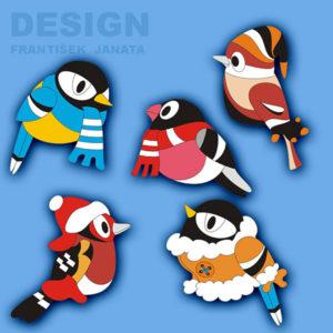 ptáci zima b