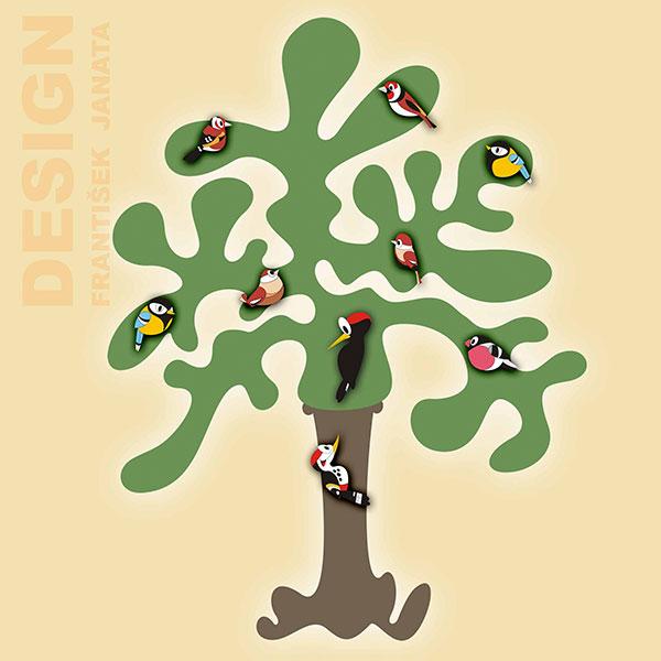 strom ptáci