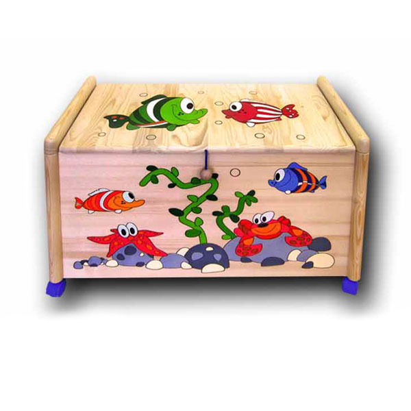 Truhla na hračky Rybky