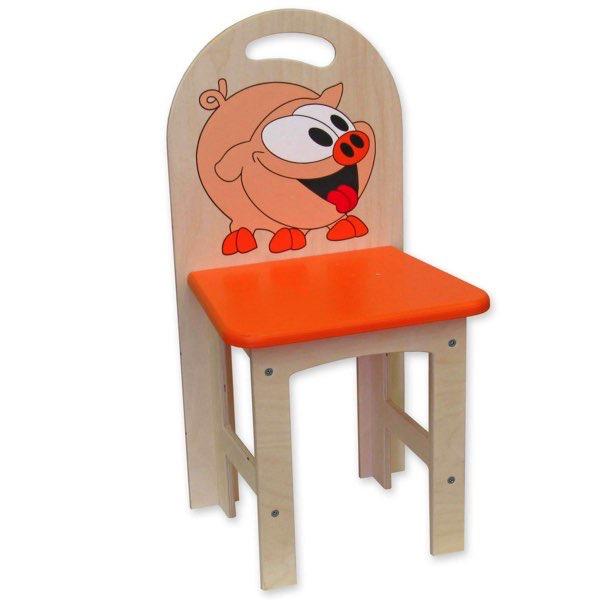 židlička překližka prasátko